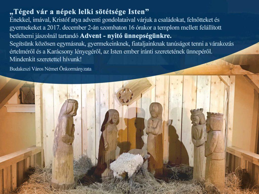 Advent – nyitó ünnepség